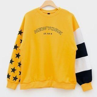 Color-Block Lettering Sweatshirt 1057868888