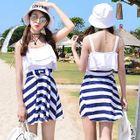 Couple Matching Stripe Swimdress + Swim Bottom / Swim Shorts 1596