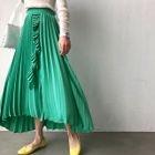 Frilled Accordion-Pleat Maxi Skirt 1596
