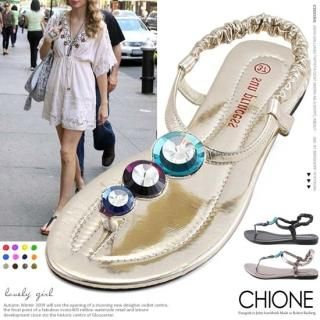 Buy Chione Bejeweled Thong Sandals 1022781411