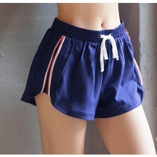 Sports Drawstring Zipped Shorts 1060779317