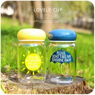 Printed Glass Water Bottle 1057958423