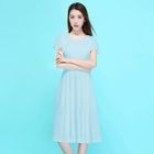 Short Frill Sleeve Midi Dress 1596