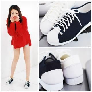 Buy Miz shoes Faux-Suede Front Lace-Up Sneakers 1022421920