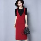 Knitted Midi Pinafore Dress 1596