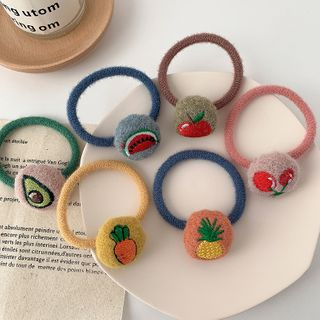 Image of Embroidered Fruit Hair Tie