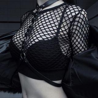 Long-sleeve | Fishnet | Top