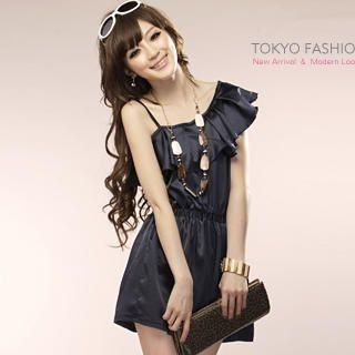 Picture of Tokyo Fashion One-Shoulder Ruffle-Hem Dress 1022911808 (Tokyo Fashion Dresses, Womens Dresses, Taiwan Dresses)