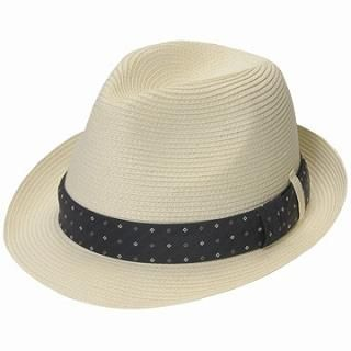 Buy GRACE Polka Dot Trim Fedora Oatmeal – One Size 1022190224