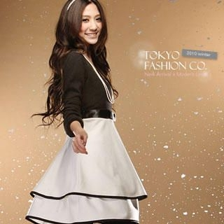 Buy Tokyo Fashion Layered Color-Block Dress 1022081023