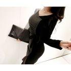 Tie-Waist Color-Block Mini Bodycon Dress 1596