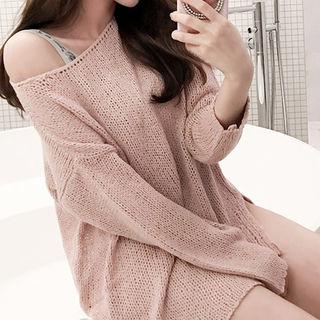 Drop-Shoulder Knit Top 1059529337