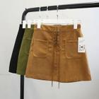 Lace-Up Mini Skirt 1596