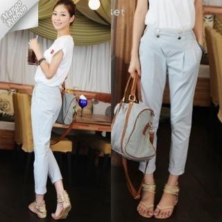 Buy Mango Ribbon Slim-Fit Pants 1022980983