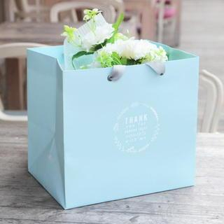 Set of 5: Printed Paper Gift Bag  Light Blue - One Size