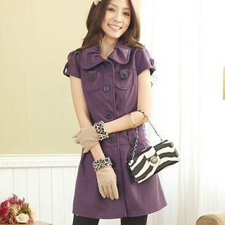 Buy Tokyo Fashion Short-Sleeve Buttoned Dress 1022094656