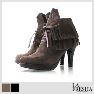 Buy LA FRESHA Platform Tassel Ankle Boots 1021142918