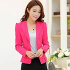 Single Button Blazer Sapphire Blue - L от YesStyle.com INT