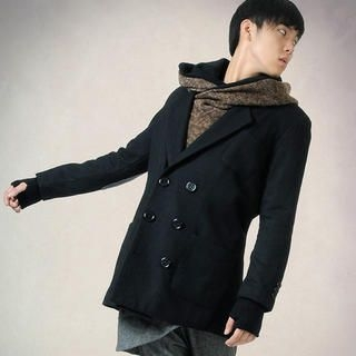 Buy deepstyle Double Breasted Coat 1021608345