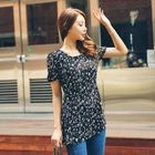 Puff-Sleeve Floral-Pattern Top от YesStyle.com INT