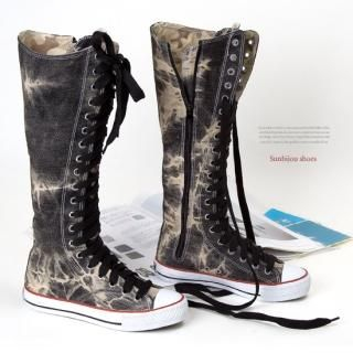 Buy Sunbijou Laced up Canvas Boots 1022856232