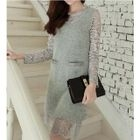 Long Sleeve Lace Dress 1596