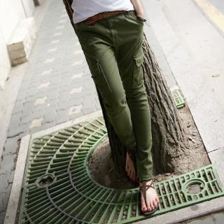 Picture of MoDN Paint Splattered Slim-Fit Cargo Pants 1022965158 (Womens Slim-Fit Pants, Womens Cargo Pants, MoDN Pants, South Korea Pants)