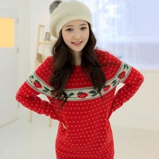 Buy CLICK Strawberry Sweater Dress 1021891295