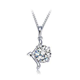 Sterling   Necklace   Pendant   Zircon   Silver