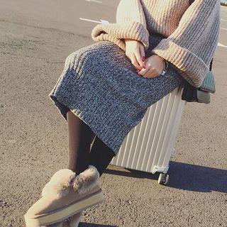 Image of Midi Knit Skirt