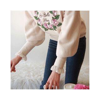 Drop-Shoulder Embroidered Knit Top 1057237525