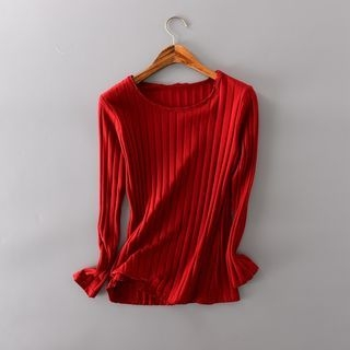 Ribbed Long-Sleeve T-Shirt 1053024404