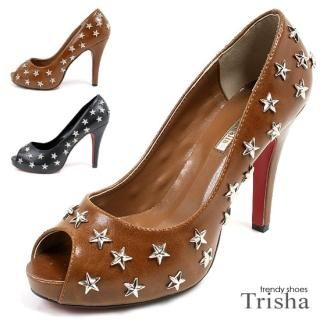 Buy Trisha Studded Star Platform Pumps 1021387310