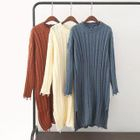 Ribbed Long-Sleeve Knit Dress 1596
