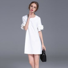 Ruffled Short-Sleeve Dress 1596