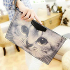 Cat Printed Clutch 1596