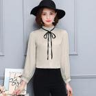 Frill Collar Chiffon Shirt 1596