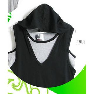 Buy SERUSH V-Neck Hooded Top 1023020556