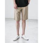 Flat-Front Cotton Shorts 1596