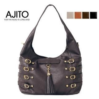 Picture of AJITO Faux-Leather Hobo 1022254202 (AJITO, Hobo Bags, Korea Bags, Womens Bags, Womens Hobo Bags)