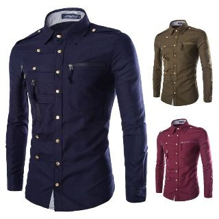Image of Buttoned Zip Shirt
