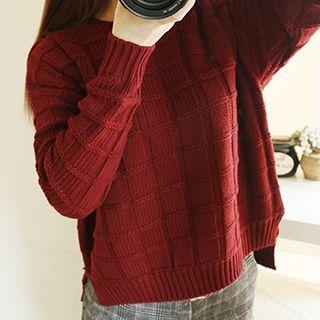 Long-Sleeve Ribbed Sweater 1045261558