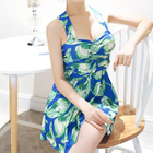 Set: Floral Swimdress + Swim Bottom 1596