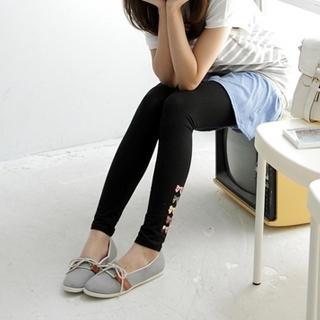 Picture of BAIMM Bow Print Leggings 1023029328 (BAIMM Apparel, Womens Socks, China Apparel, China Socks)