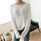 Round-Neck Ribbed Top 1596