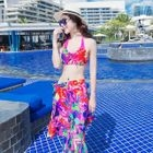 Set: Floral Print Bikini + Cover-Up 1596