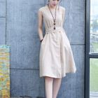 Sleeveless Tie-Waist Dress 1596