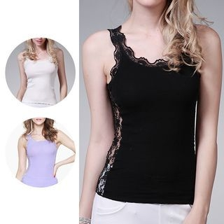 Lace Back Tank Top 1054009471