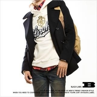 Buy Style Impact Wool Blend Pea Coat 1021554653