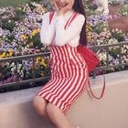 Set: Plain Shirt + Striped Pinafore Dress 1596